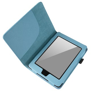 BasAcc Light Blue Leather Case for Amazon Kindle Paperwhite