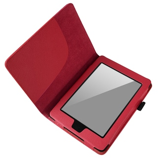 BasAcc Red Leather Case for Amazon Kindle Paperwhite