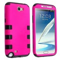 BasAcc Black/ Hot Pink Hybrid Case for Samsung Galaxy Note II N7100