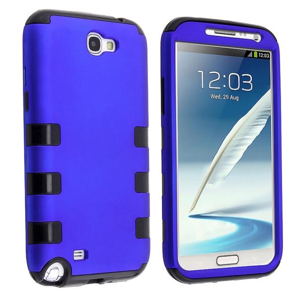 BasAcc Black/ Blue Hybrid Case for Samsung Galaxy Note II N7100