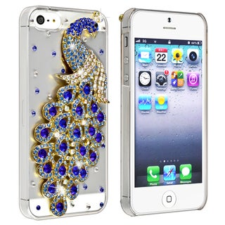 BasAcc Clear/ Blue Peacock/ Diamond Snap-on Case for Apple� iPhone 5