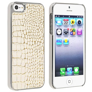 BasAcc Chrome/ White Crocodile Snap-on Case for Apple� iPhone 5