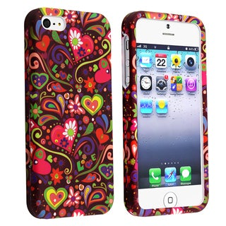 BasAcc Secret Garden Snap-on Rubber Coated Case for Apple� iPhone 5