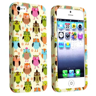 BasAcc Fancy Owls Snap-on Rubber Coated Case for Apple� iPhone 5
