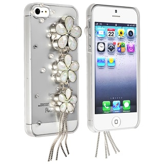BasAcc Clear/ White Flowers Snap-on Case for Apple iPhone 5