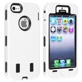 BasAcc Black Hard/ White Skin Hybrid Case for Apple iPhone 5