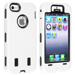 BasAcc Black Hard/ White Skin Hybrid Case for Apple� iPhone 5/ 5S