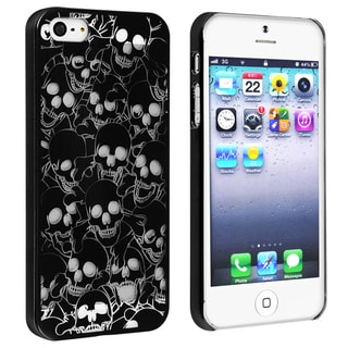BasAcc Black/ Cute Skull Snap-on Case for Apple� iPhone 5
