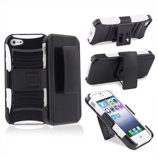 BasAcc White/ Black Hybrid Armor Case  for Apple� iPhone 5