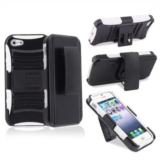BasAcc White/ Black Hybrid Armor Case  for Apple� iPhone 5