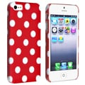 BasAcc Red with White Dot Snap-on Case for Apple� iPhone 5