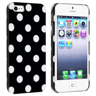 BasAcc Black with White Dot Snap-on Case for Apple� iPhone 5