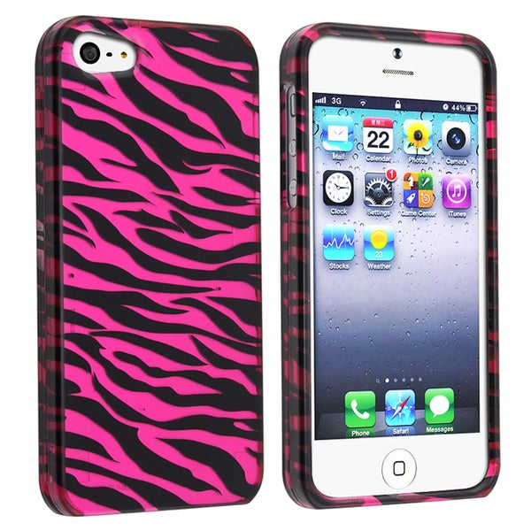 BasAcc Hot Pink Zebra Skin Snap-on Case for Apple® iPhone 5