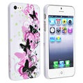 BasAcc Anti-Scratch White/Butterfly Snap-On Rubber Coated Case for Apple iPhone 5