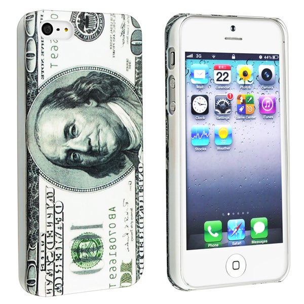 BasAcc Hundred Dollar Snap-on Rubber Coated Case for Apple® iPhone 5