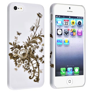 BasAcc White/ Vine Snap-on Rubber Coated Case for Apple� iPhone 5