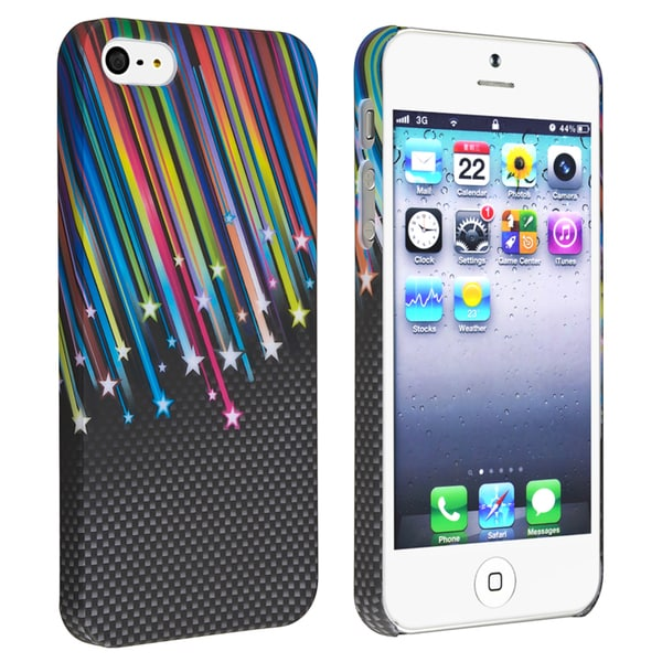BasAcc Rainbow Star Snap-on Rubber Coated Case for Apple® iPhone 5