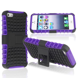 BasAcc Purple TPU/ Black Hard Hybrid Case for Apple� iPhone 5