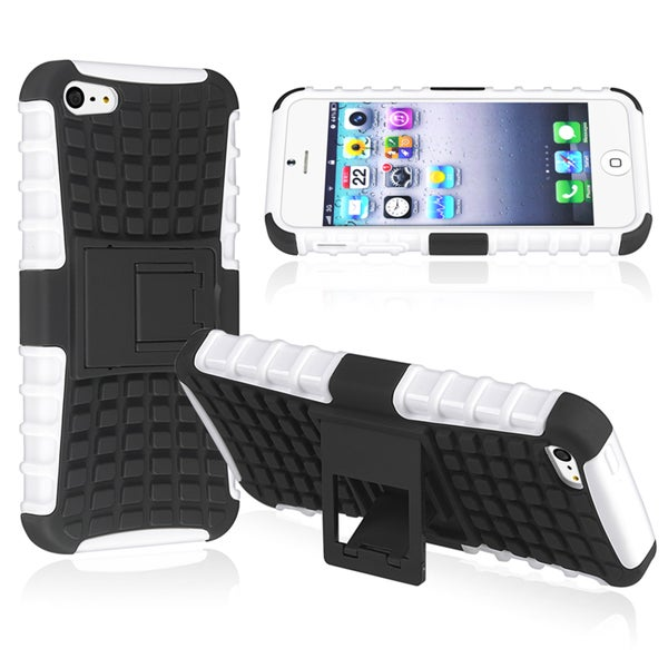 BasAcc White TPU/ Black Hard Hybrid Case for Apple® iPhone 5