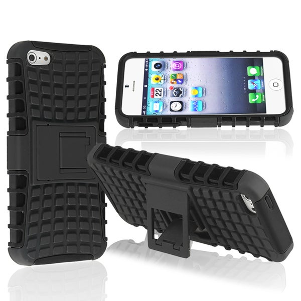BasAcc Black TPU/ Black Hard Hybrid Case for Apple® iPhone 5