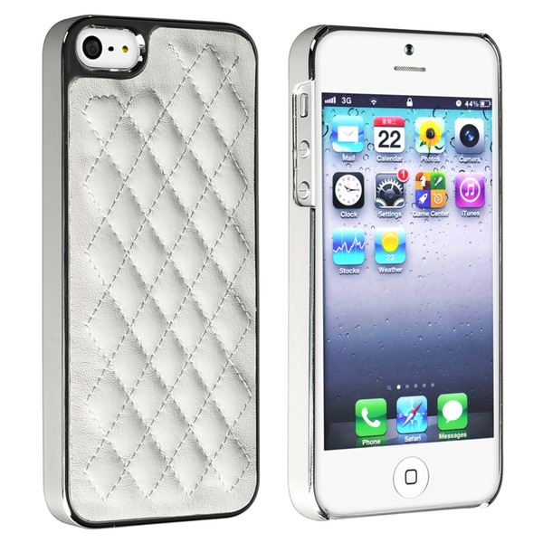 BasAcc White Leather/ Silver Side Snap-on Case for Apple® iPhone 5