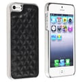 BasAcc Black Leather/ Silver Side Snap-on Case for Apple iPhone 5