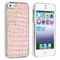 BasAcc Chrome/ Pink Crocodile Snap-on Case for Apple iPhone 5
