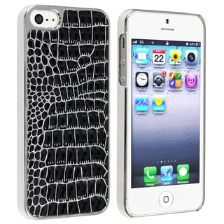 BasAcc Chrome/ Black Crocodile Snap-on Case for Apple� iPhone 5
