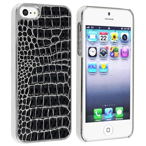 BasAcc Chrome/ Black Crocodile Snap-on Case for Apple® iPhone 5