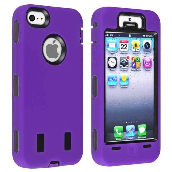 BasAcc Black Hard/ Purple Skin Hybrid Case for Apple® iPhone 5