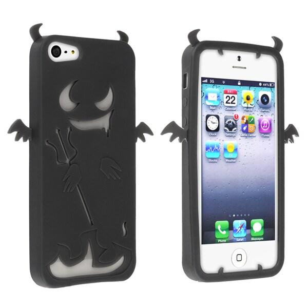 BasAcc Black Devil Silicone Skin Case for Apple® iPhone 5