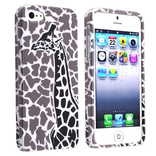 BasAcc Gray Giraffe Snap-on Case for Apple� iPhone 5