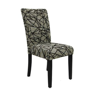 Beige and Black Side Chair (Set of 2)