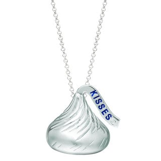 Hershey Kiss Sterling Silver Diamond Accent Necklace and Gift Set