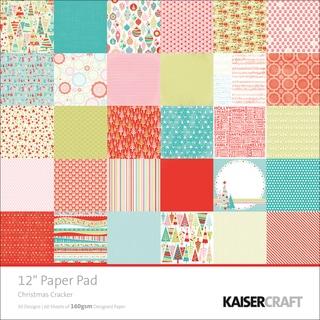 Christmas Cracker Single-Sided 160gsm Paper Pad 12x12 60/Sht-30 Designs/2ea