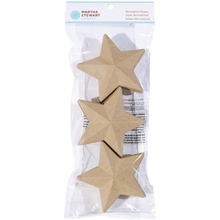Decorative Boxes 3/Pkg-Star