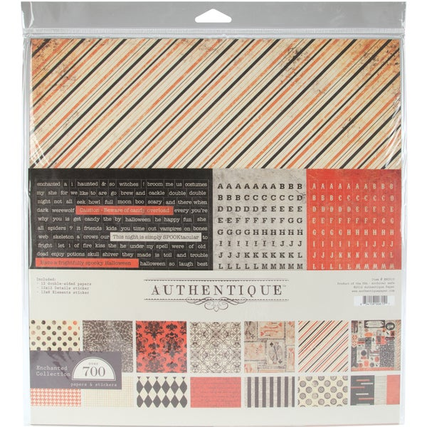 """Enchanted Collection Kit 12""""X12""""-36 Double-Sided Sheets - 12 Designs/3ea"""