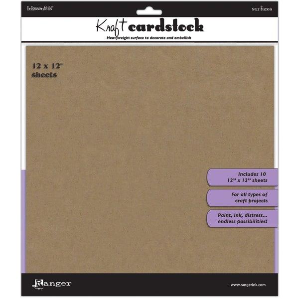 """Inkssentials Kraft Surfaces 10/Pkg-12""""X12"""""""