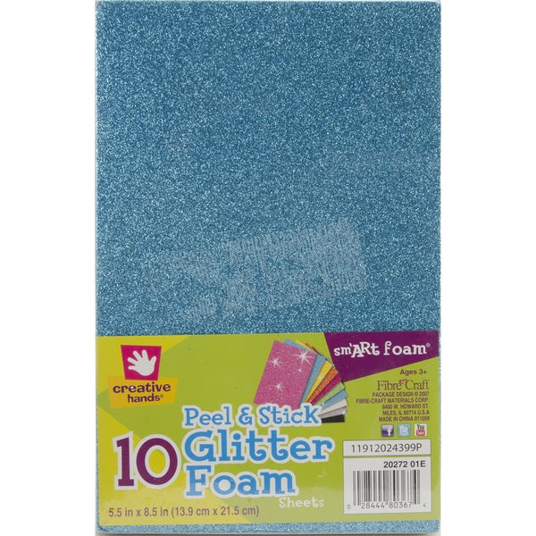 Peel & Stick Foam Glitter Sheets (Pack of 10)