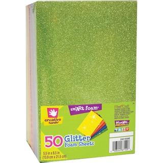 Glitter Foam Multi-colored Sheet Stack (Pack of 50)