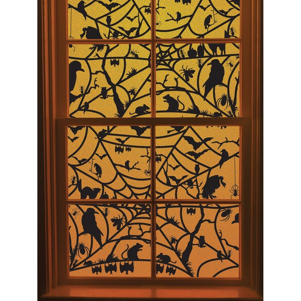 Window Cling-Haunted Web
