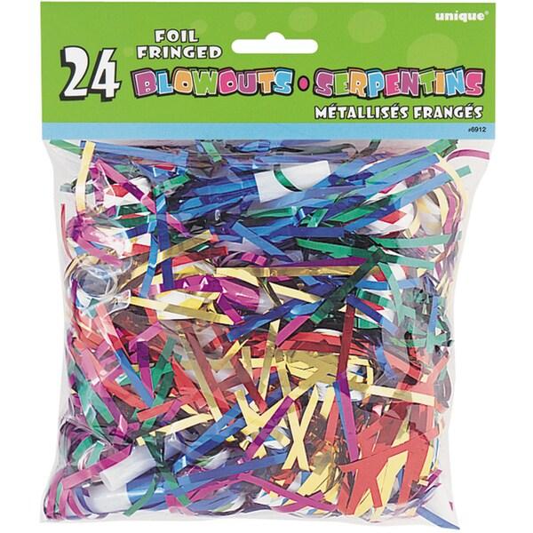 Foil Fringed Blowouts 24/Pkg-