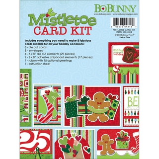 Mistletoe Card Kit-Makes 8 Cards With Envelopes
