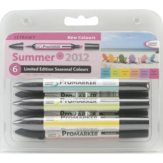 Letraset Promarker Limited Edition Set 6/Pkg-Summer