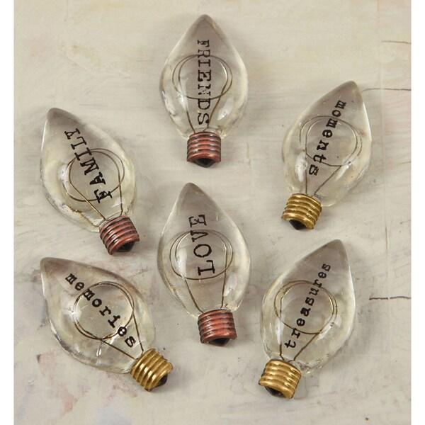 Junkyard Findings Vintage Trinkets-Typo Bulbs #1 6/Pkg