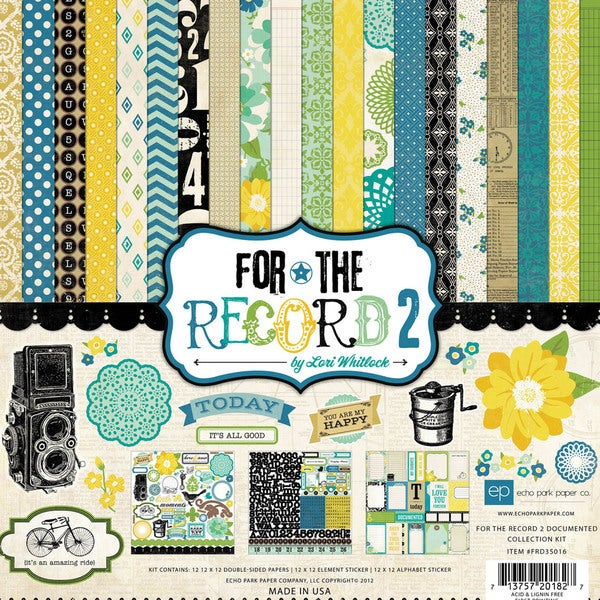 """For The Record 2 Documented Collection Kit 12""""X12""""-"""