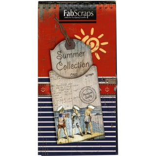 "Summer Journal Die-Cut Pad 8""X4"" 60 Sheets-Tags, Shapes & Pages"