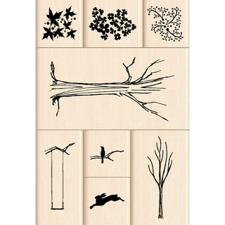 "Inkadinkado Mounted Rubber Stamp-My Tree 8pc 4.75""X4.5"""