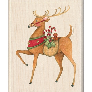 "Inkadinkado Christmas Mounted Rubber Stamp-Reindeer 2.25""X2.75"""