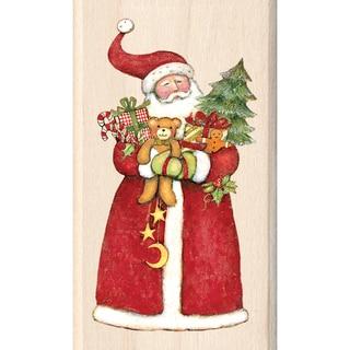 Inkadinkado Christmas Mounted Rubber Stamp-Santa 1.75